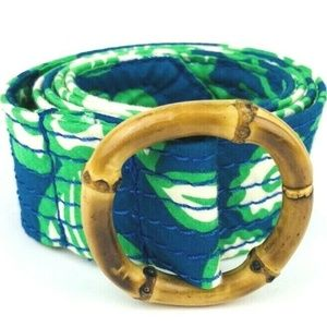 J. Crew Bamboo Adjustable Floral Print Fabric Belt